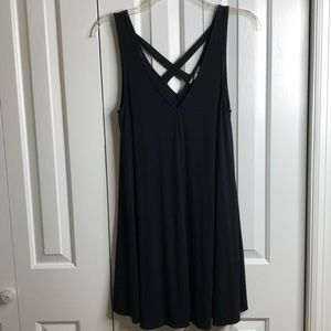 AE soft and sexy size L sexy black dress EUC
